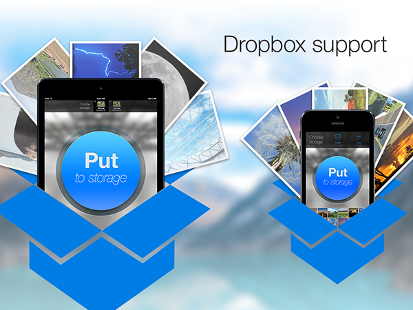 how to download photos from dropbox to ipad