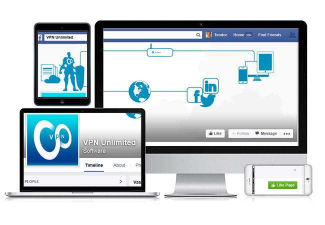 VPN Facebook layout
