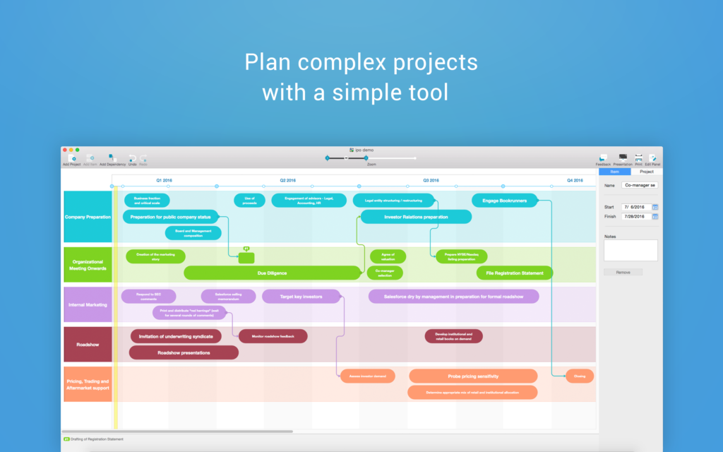 this is possible with our brand new app roadmap planner our product wont let unfavorable environment snarl you up it will help you to work out a