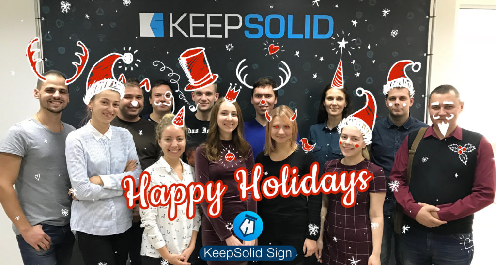 Happy holidays to you from the KeepSolid Sign team!