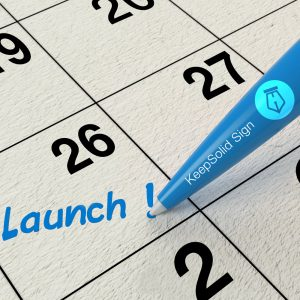 Date of our electronic signature app's release