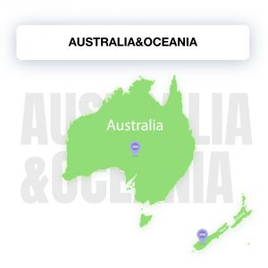 Map of Australia&Oceania, showing the legality of electronic signature by countries