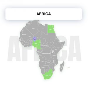 Map of Africa, showing the legality of electronic signature by countries