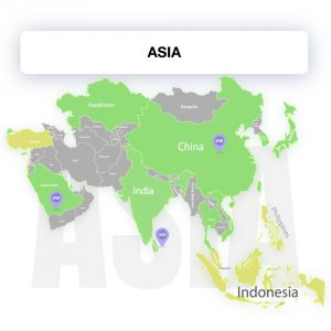 Map of Asia, showing the legality of electronic signature by countries