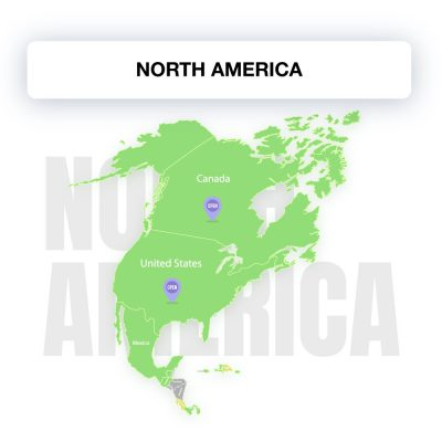 Map of North America, showing the legality of electronic signature by countries