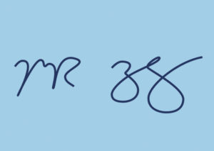 An example of Mark Zuckerberg's electronic signature.