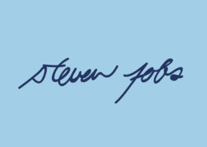 An example of Steve Jobs' electronic signature.