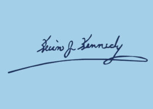 An example of Kevin J. Kennedy's electronic signature.