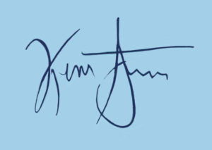 An example of Kevin Systrom's electronic signature.