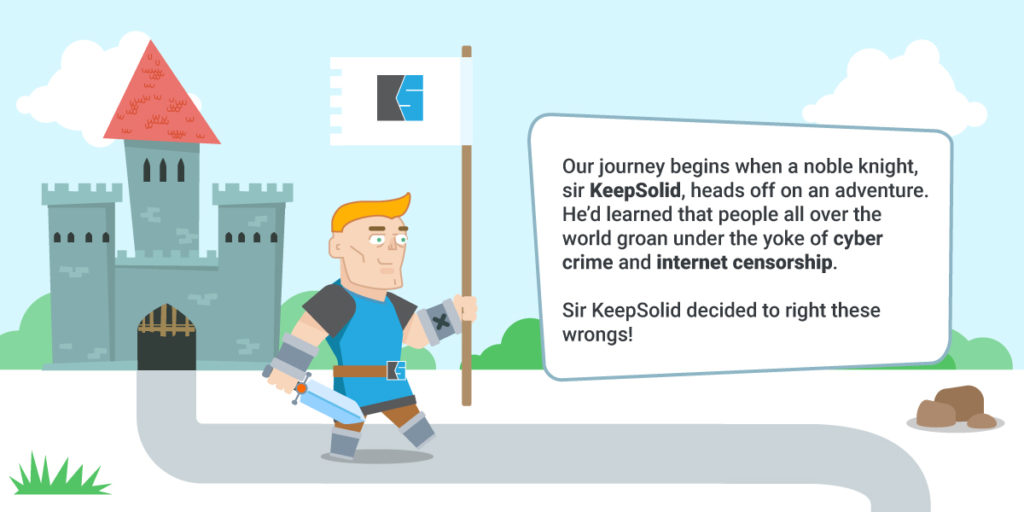 Infographics. Pic. 1. Quest for Eight Million Users — KeepSolid Blog