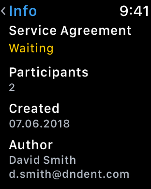 Preview documents on Apple Watch with KeepSolid Sign