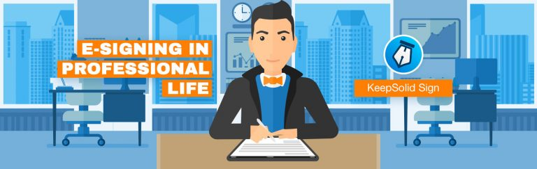 E-Signing in professional life
