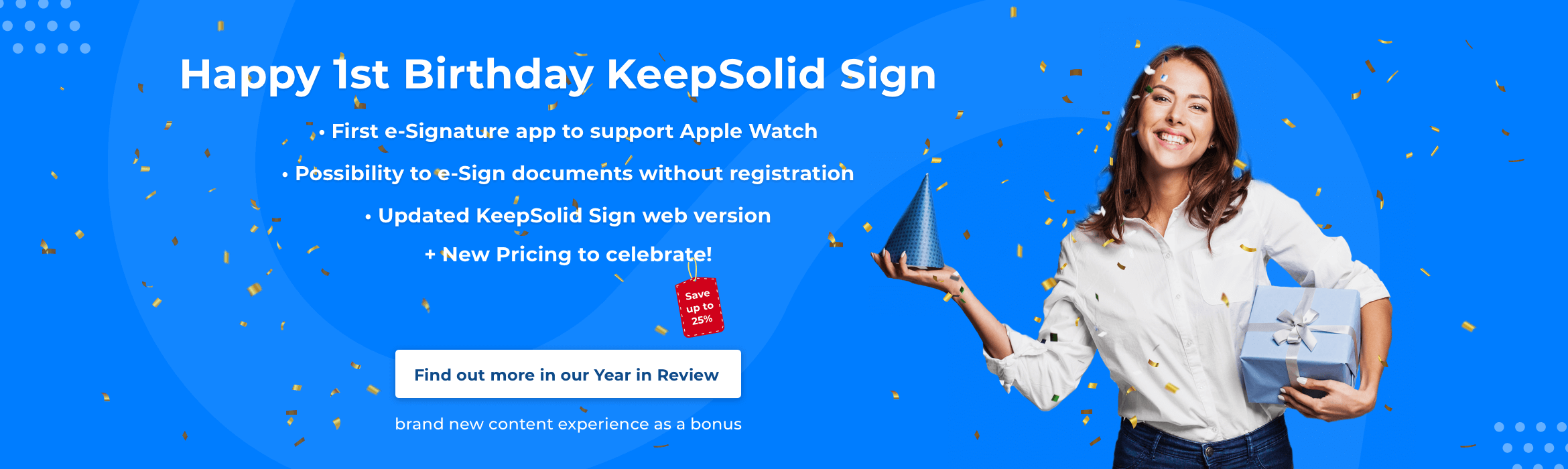 KeepSolid Sign Birthday