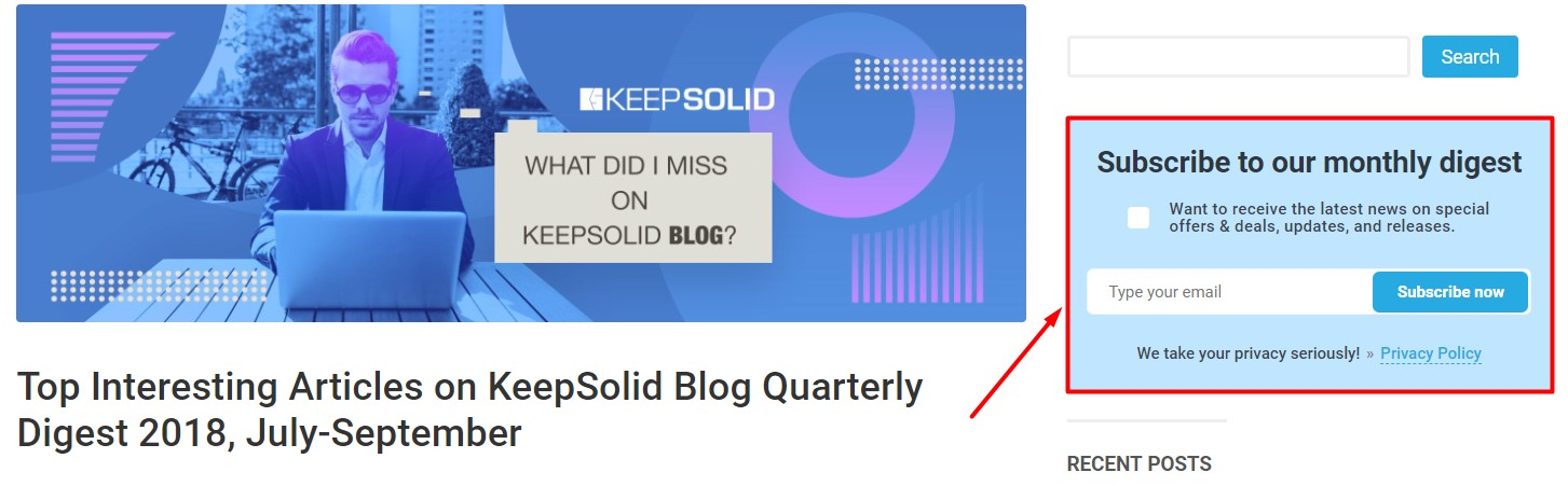 Subscribe to KeepSolid blog to get the best articles into your inbox