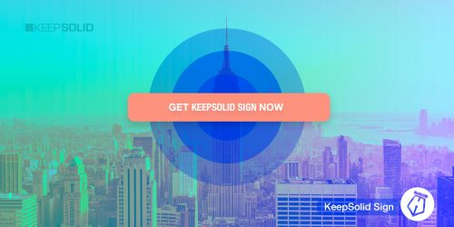 Get e-Signture sotware by KeepSolid now