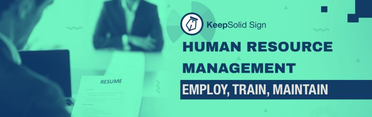 Perfect performance at job interview. Human resources management systems that help consider applications and choose the best employee