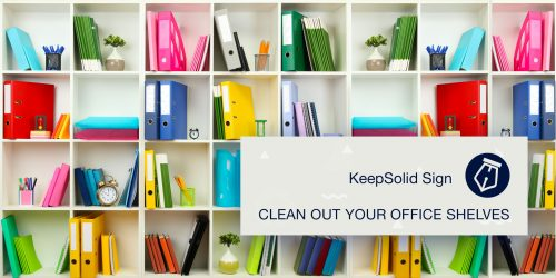 White office shelves with different stationery illustrating average cost of office supplies