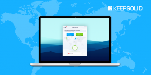 Minimalistic and intuitive interface of KeepSolid VPN Unlimited