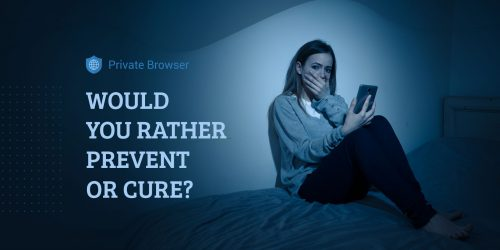 Sad desperate young teenager female girl on smart phone suffering from online bulling and harassment after not using secure and private internet browser
