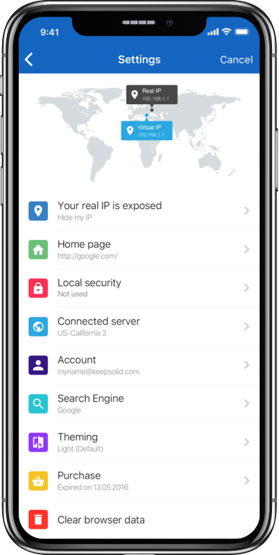 Private Browser - the best app for total privacy and security of your online browsing