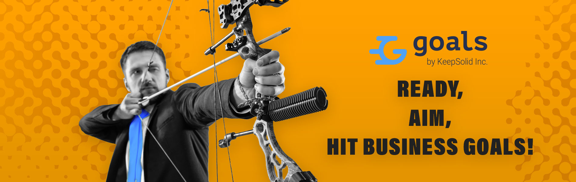 Businessman aiming at target with bow and arrow. The business, goal, challenge, competition, achievement, purpose, victory, win, clarity, winner and success concept