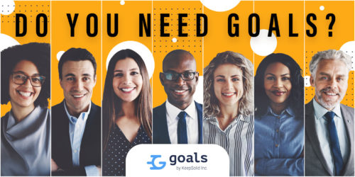 Collage of portraits of an ethnically diverse and mixed age group of focused business professionals who use a goal-oriented tool - Goals by KeepSolid