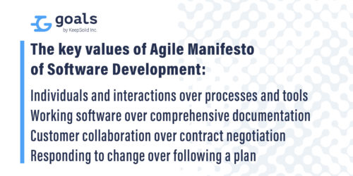 The key values of Agile Manifesto of Software Development