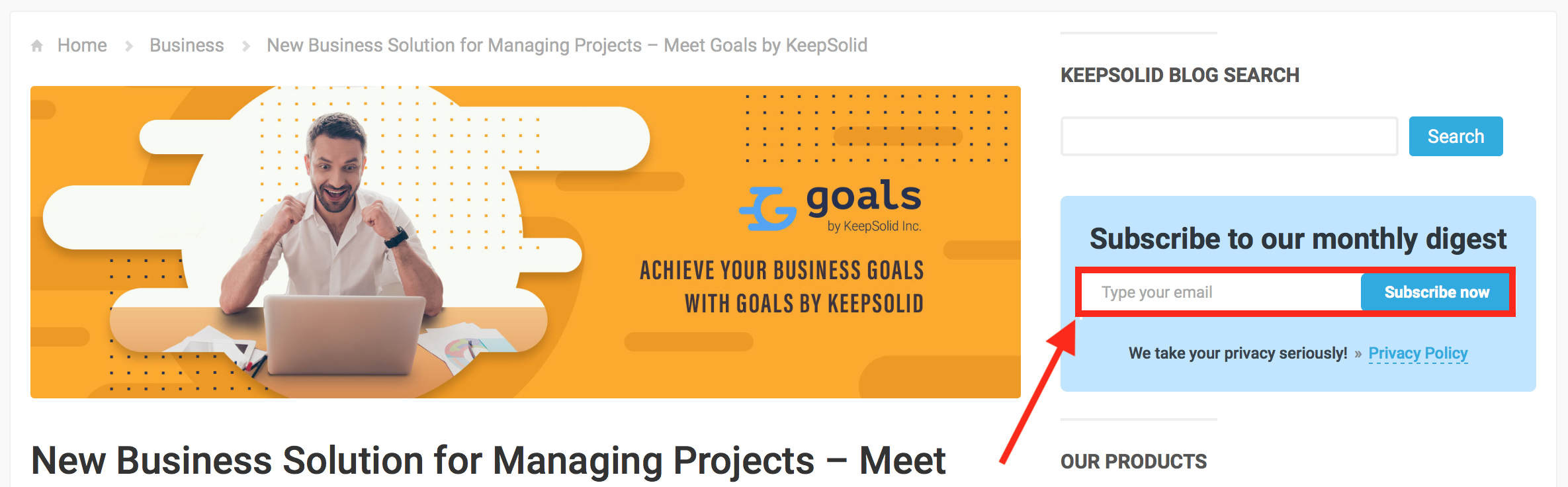 Subscribe to KeepSolid digest