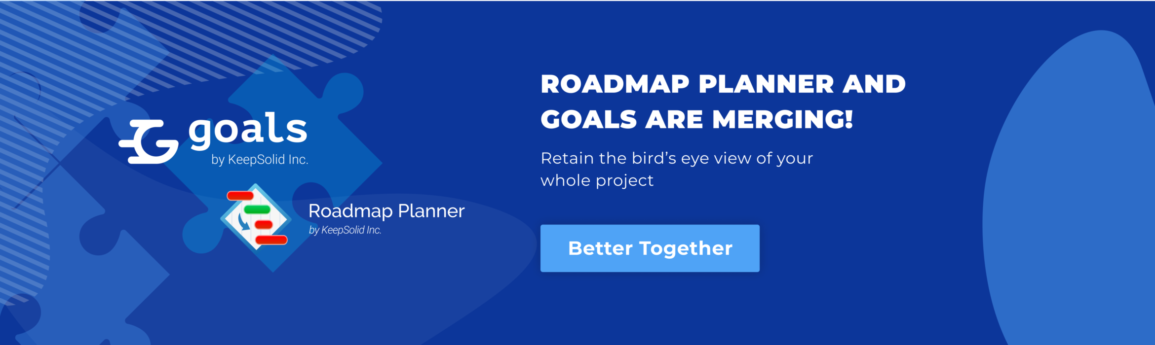 Roadmap Planner merges with Goals by KeepSolid