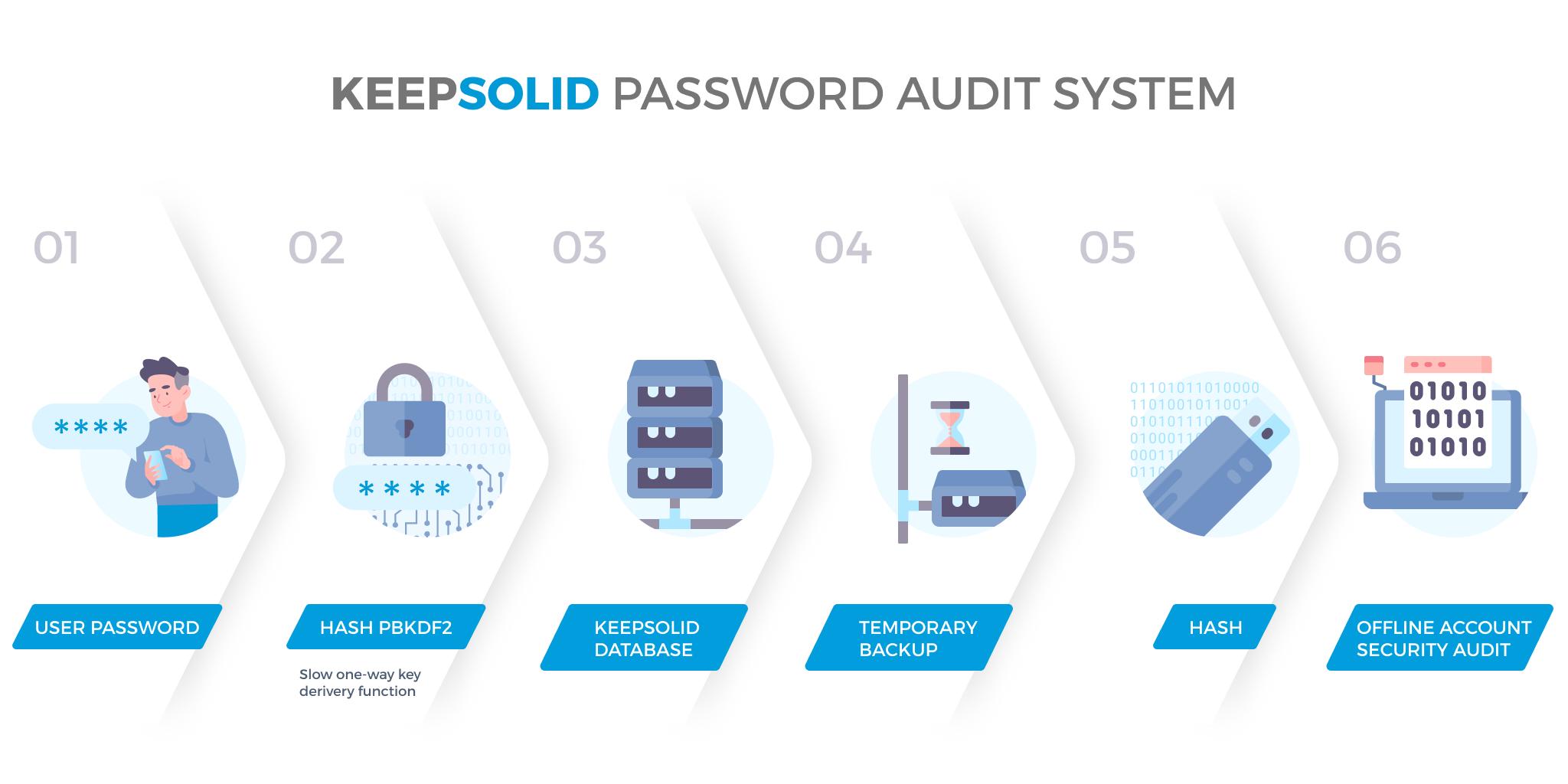 KeepSolid password audit system