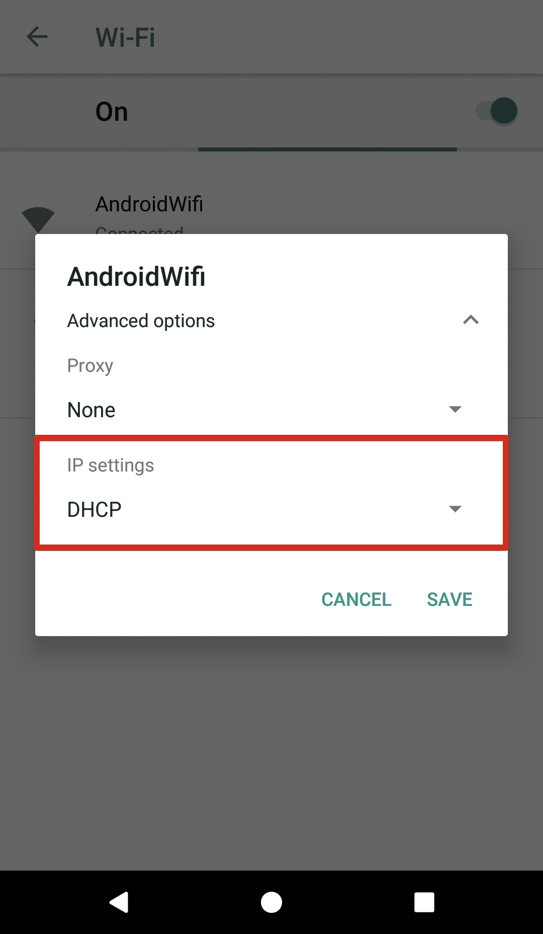 How to change DNS on Android 8 - go to WiFi > IP settings