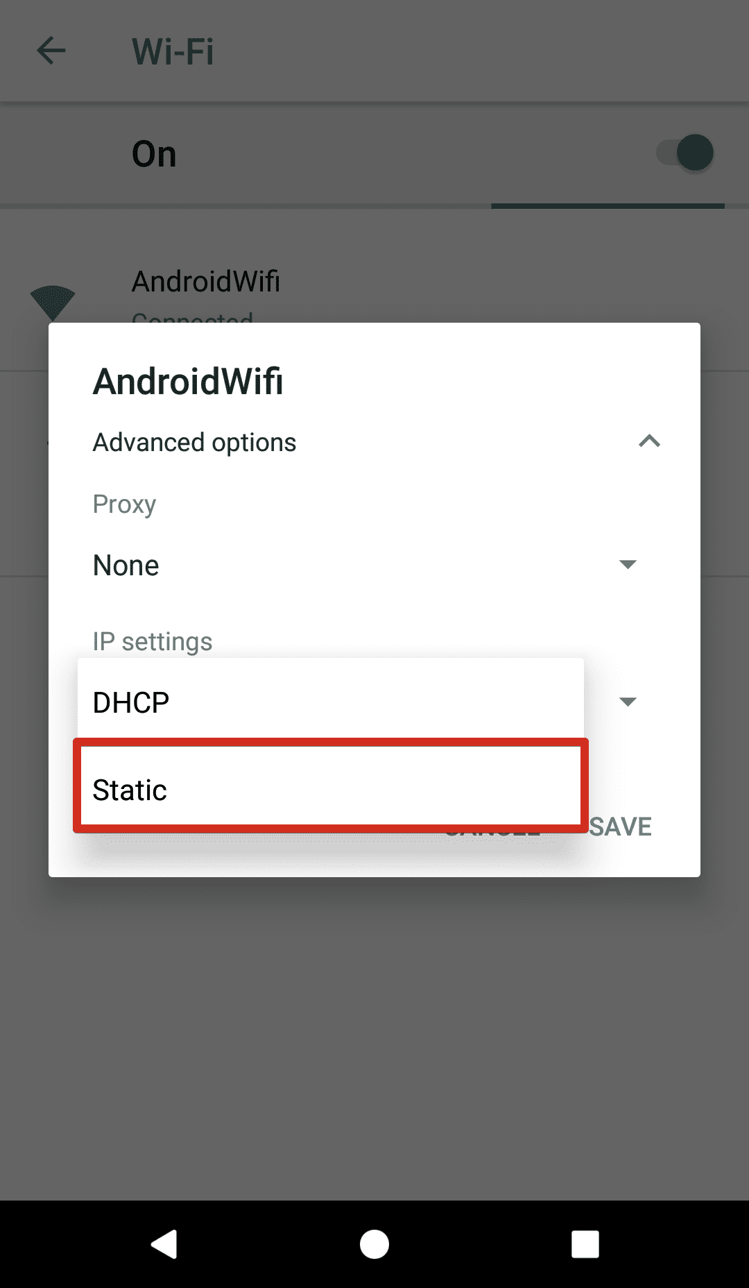 How to change DNS on Android 8 - go to WiFi > IP settings - choose static