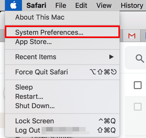 How to unblock websites on MacBook Air - go to System Preferences
